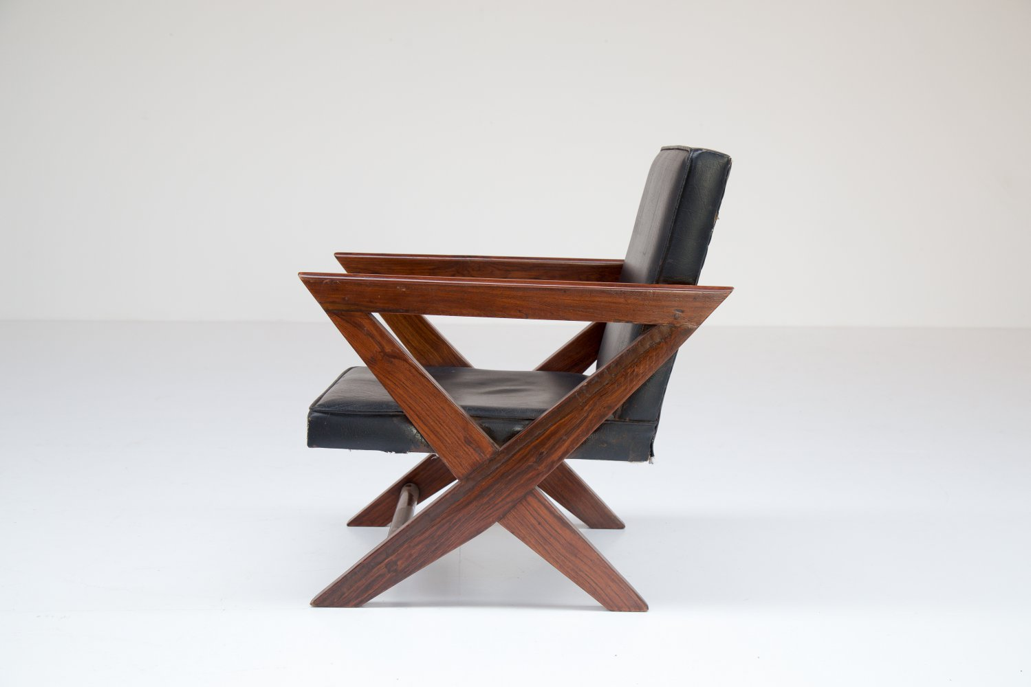 Pierre Jeanneret Lounge chair from M.L.A Flats building in Chandigarh
