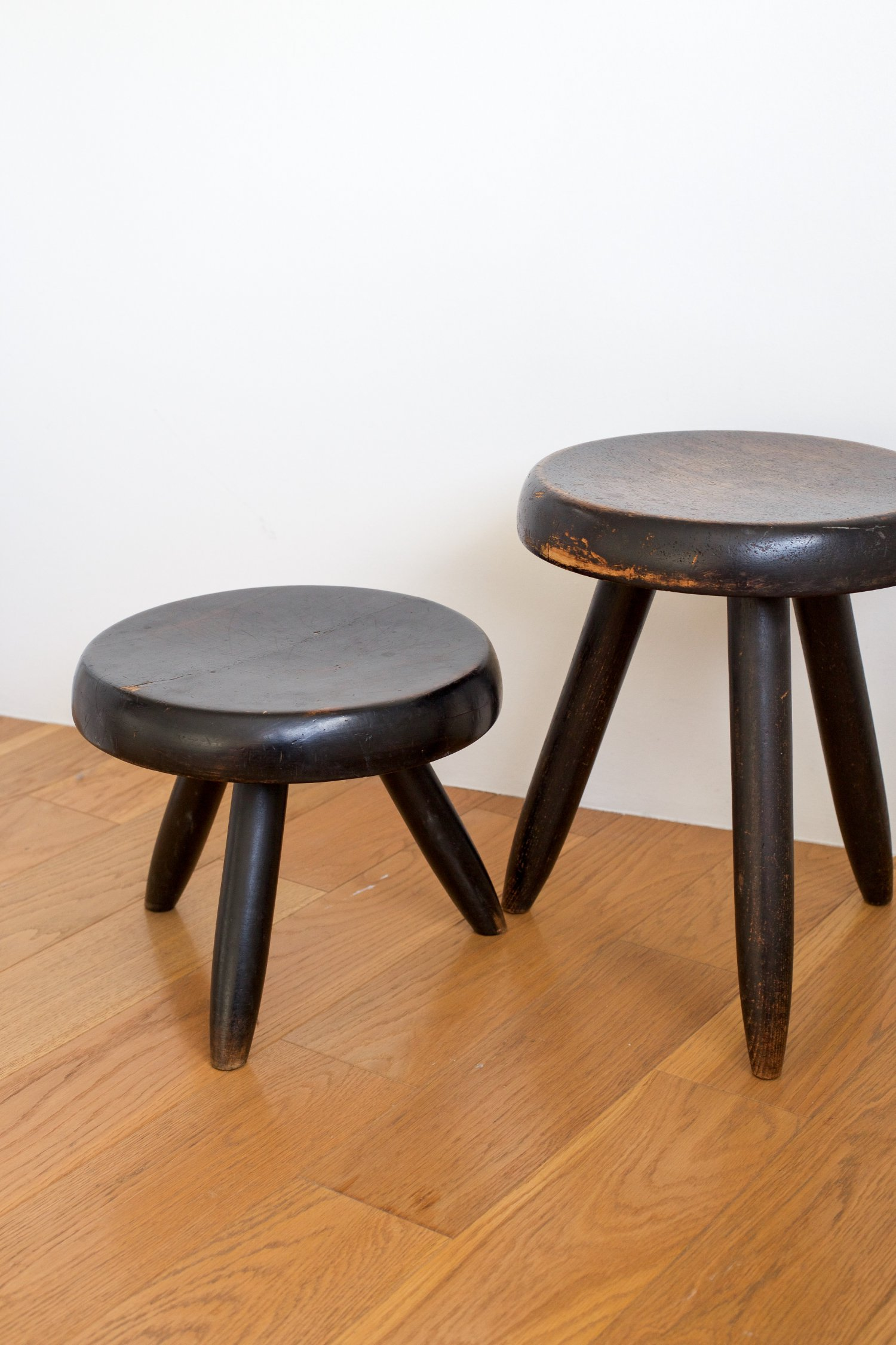 Charlotte Perriand pair of stools.