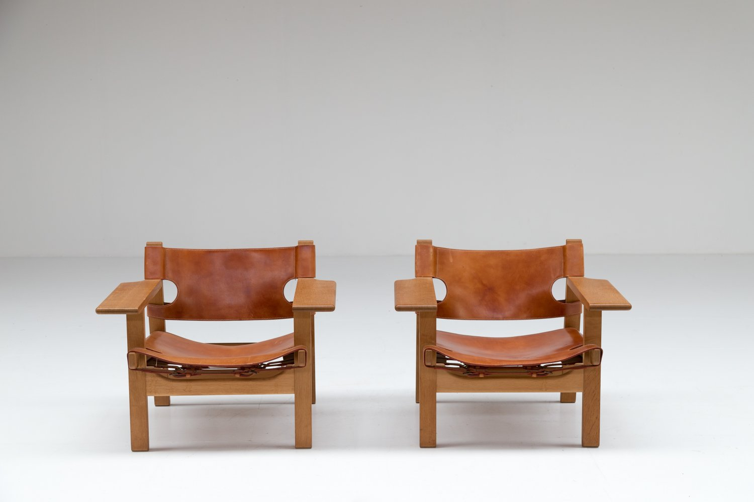 Pair of Spanish Chairs by Borge Mogensen