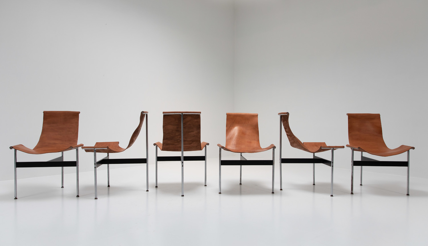 Set of 6  T-chairs by Katavolos