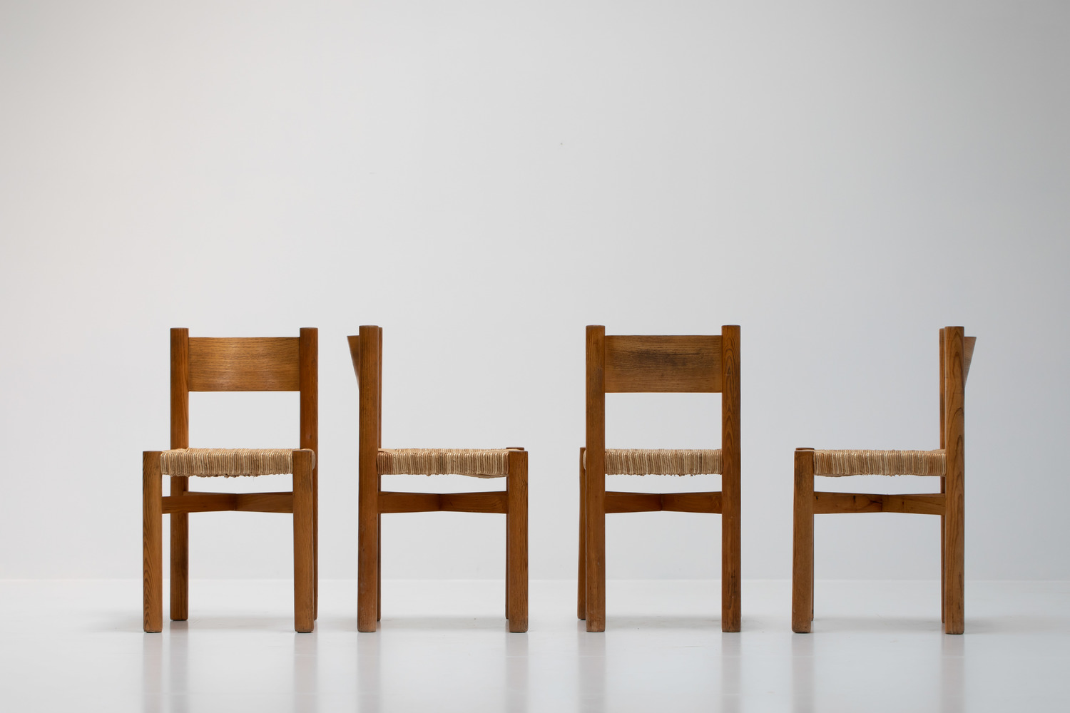 Set of 4 Meribel chairs by Charlotte Perriand