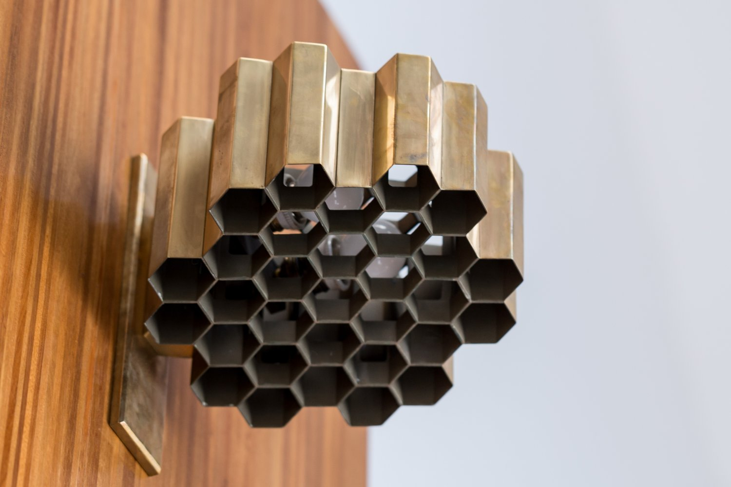 Jules Wabbes Honey Comb wall lamps